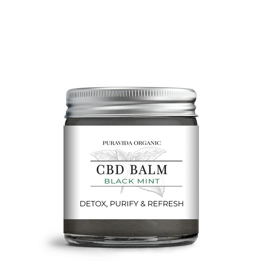 black mint CBD balm